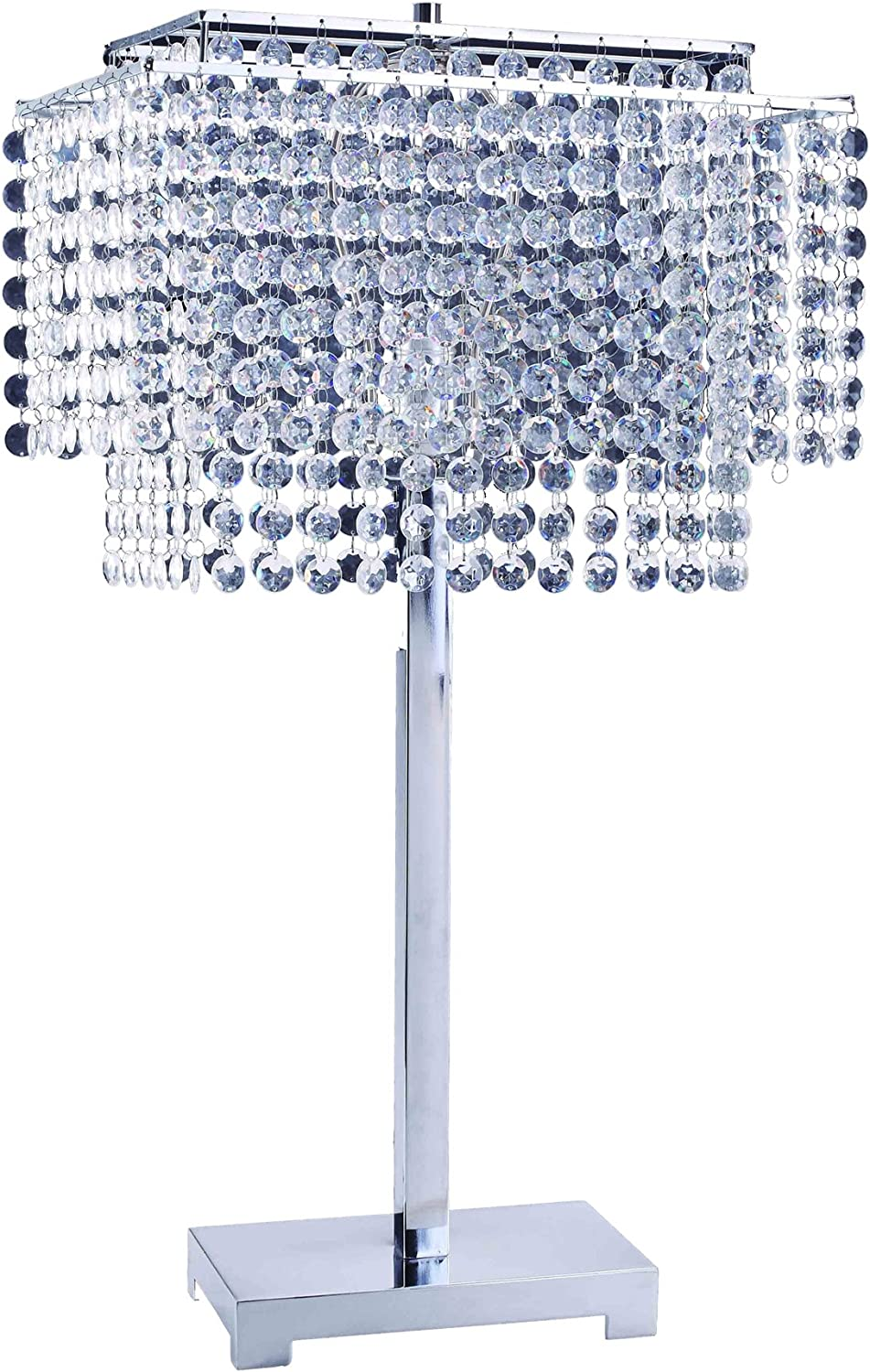 "ORE International 732 28-Inch Crystal Strings Table Lamp, 28"" x 9.5"" x 15.5"""