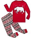 Boys Girls Christmas Pajamas Bear Cotton Toddler