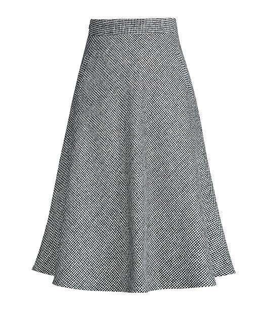 62a30cb04f Femirah Women's High Waist Woolen A Line Skirt Vintage Plaid Winter Swing  Skirts (Waist 65cm