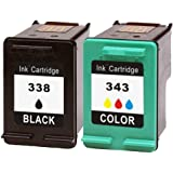 Inmax Remanufactured Ink Cartridges Replacement for HP 338 & 343 ( C8765ee / C8766EE ) Black & ColourPack