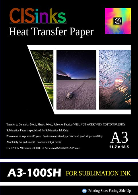 "SUBLICOTTON HEAT TRANSFER PAPER  150 Sh PK 8.5/""X11"" Sublimation paper for Cotton"