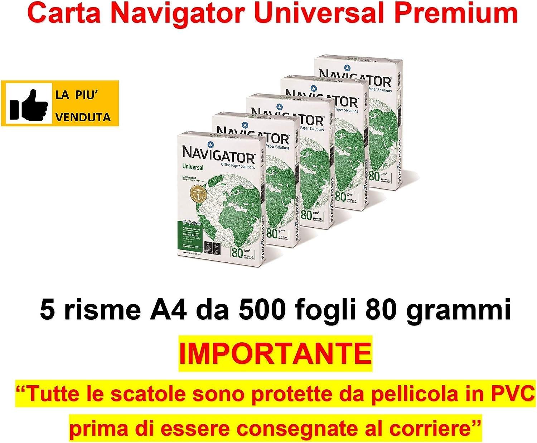 Caja de 2500 Folios Navigator Universal 5x Paquete 500 hojas A4 ...
