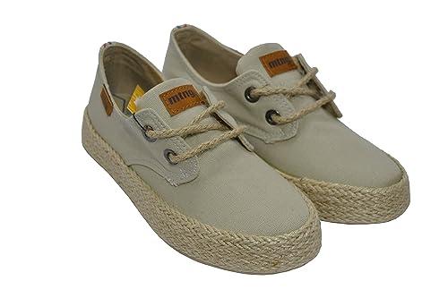 Mustang Zapatilla Lona beig con Cordones: Amazon.es: Zapatos y complementos