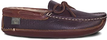 c0a3527c7cbff Rj Fuzzies Mens Leather Driving Moccasins by Cloud Nine Sheepskin with Sheepskin  Lining