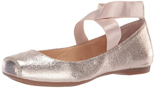 Jessica Simpson Women's Mandalaye Ballet Flat , Gold (Purple Orange 717), 5.5 M US best women's ballet flats