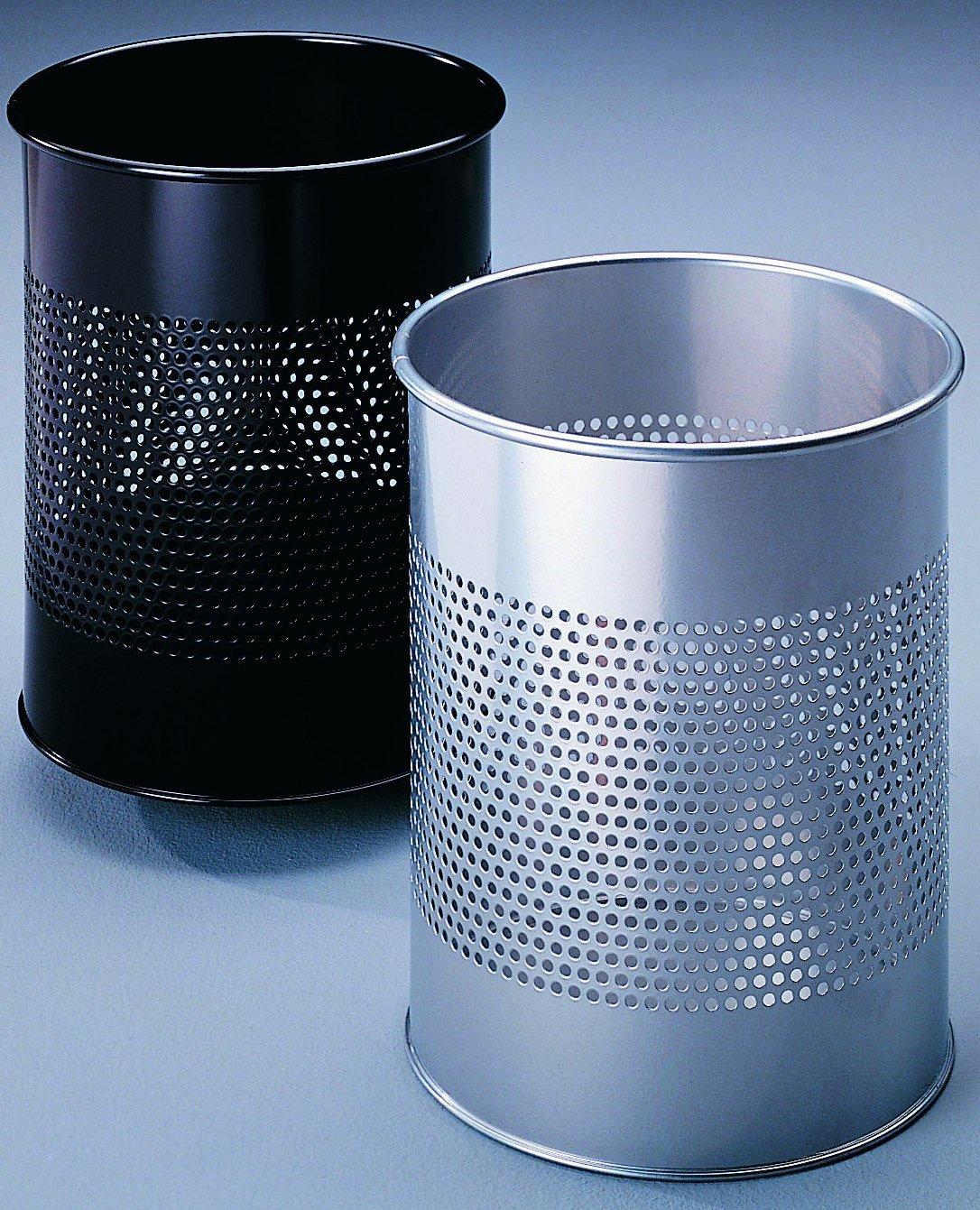 15 Liter, Perforation 165 mm Durable 331058 Papierkorb Metall rund anthrazit