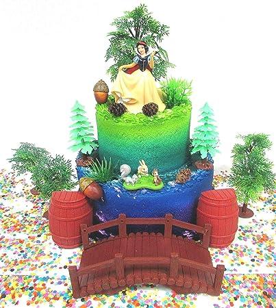Astounding Cake Toppers Snow White Birthday Set Featuring Princess Snow White Funny Birthday Cards Online Elaedamsfinfo