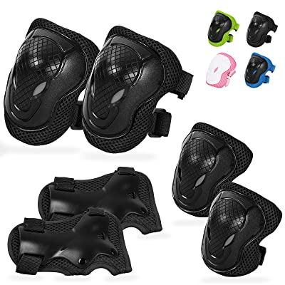 Elbow Wrist Knee Pads Sport Safety Protective Gear Guard Kids Skating Cycling
