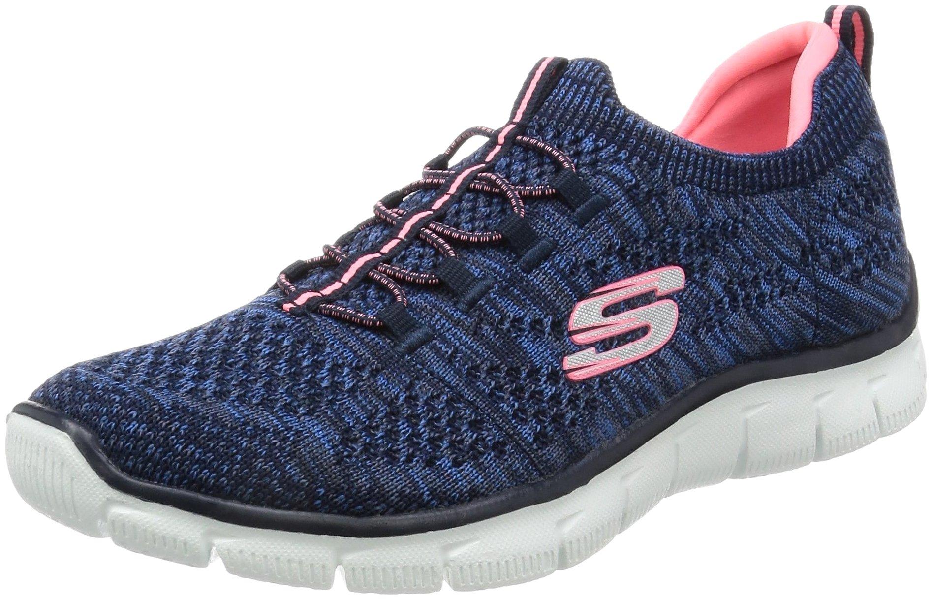 Skechers Women's Empire - Sharp Thinking Navy/Pink 11 B US