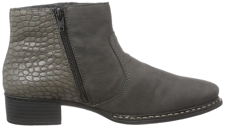 Rieker 73690, Damen Kurzschaft Stiefel, Grau (fumo/asphalt/45), 36 EU (3.5  Damen UK): Amazon.de: Schuhe & Handtaschen