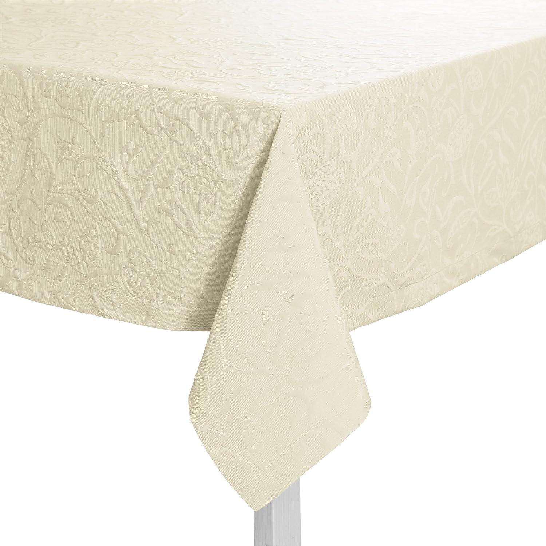 Pichler CORDOBA_150 250_PE hochwertig und bügelfrei - Tischdecke 150 x 250 cm perle