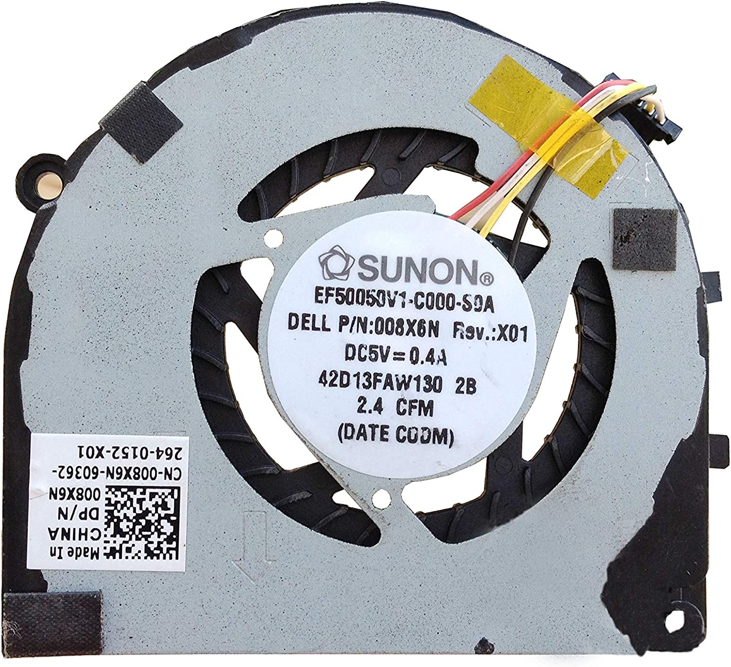 Z-one Fan Replacement for Dell XPS 13 L322x Ultrabook 9333 Series CPU Cooling Fan, 008X6N 08X6N 4-Wire 4-Pin 5V