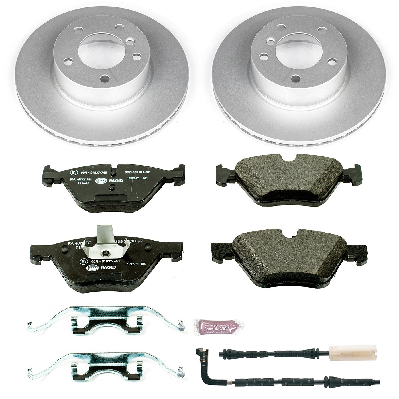 Power Stop ESK4590 Front Euro-Stop Brake Kit