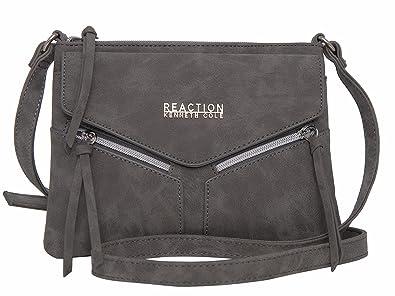 e228f8530b1 Kenneth Cole REACTION KN1963 Columbus Mini Crossbody Messenger Purse  Shoulder Bag (Grey)
