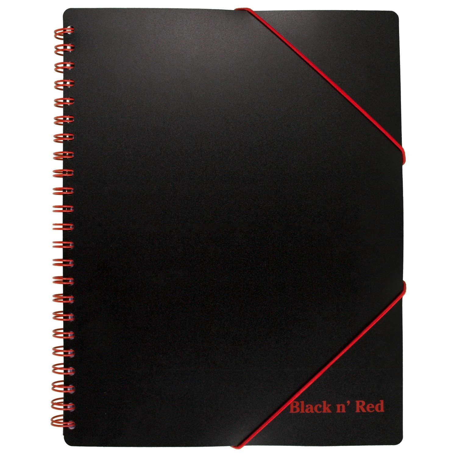 Black n' Red Filing Notebook, Poly Cover, Twinwire, 8-1/4 x 11-5/8 inches, Black, Ruled, 80 Sheets (400077473)