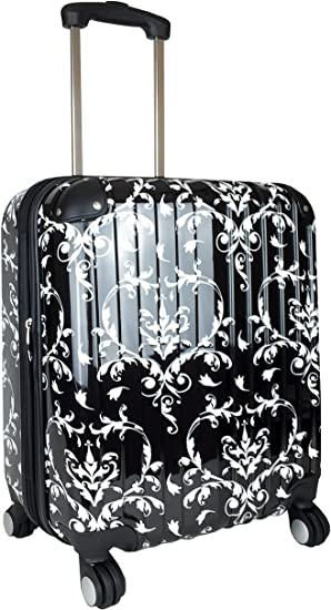 Trendy Flyer CarryOn Travel Bag Rolling 4 Wheel Spinner Lightweight Luggage Case