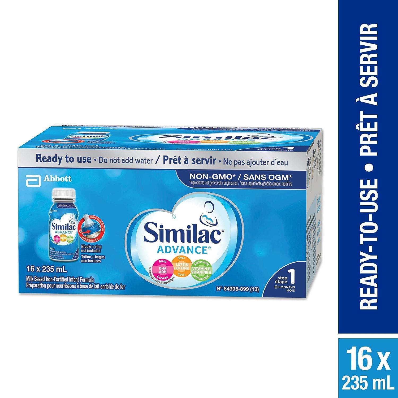 Similac Advance Step 1 Infant Formula, Ready to Feed Bottles YES