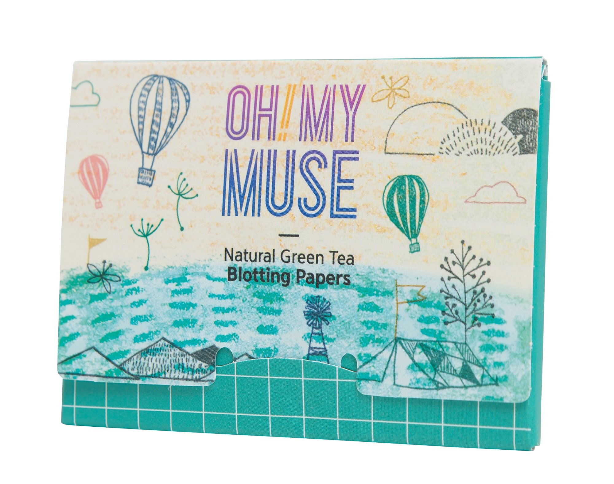 [Oh!My Muse] Natural Green Tea Oil Absorbing Sheets, Blotting Paper, 50 count (10 Packs) by Oh!My Muse (Image #5)