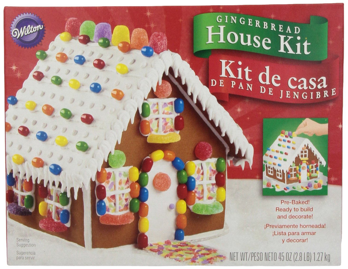wilton holiday gingerbread cottage house amazonca grocery