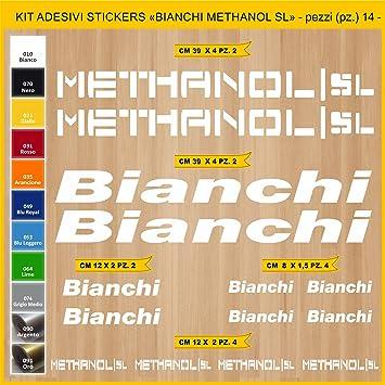Kit Pegatinas Stickers Bicicleta Bianchi METHANOL SL -14 Piezas ...