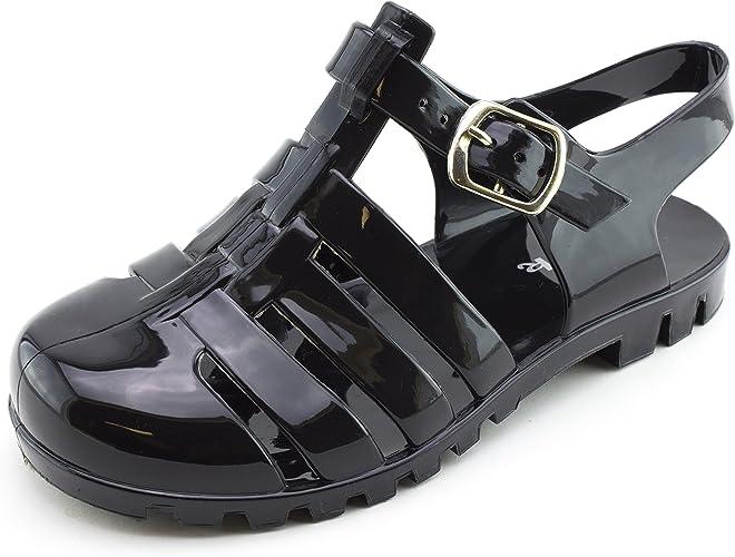 NEW Girls Youth SODA KIM BLACK Sandals Thongs Dress Shoes SZ 2