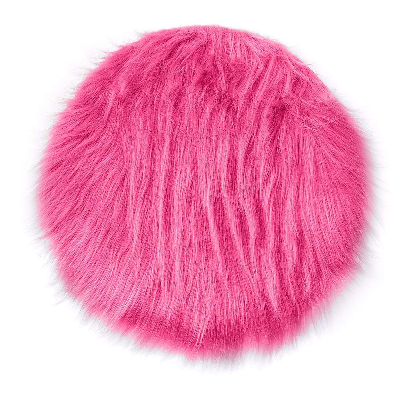 Amazon.com: Chair Wool Warm Hairy Carpet Seat Chaircushion ...