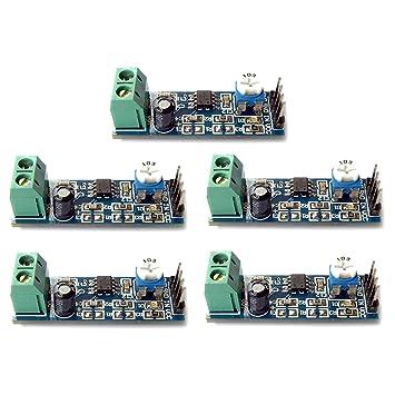 Optimus Electric 5 unidades LM386 Amplificador de Audio Módulo 20x Amplificación de Sonido Ganancia con Amplio