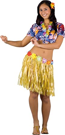 FIORI PAOLO – hawaiana disfraz mujer adulto Womens, multicolor ...