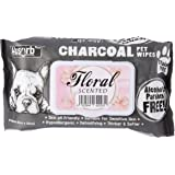 Absorb Plus Charcoal Pet Wipes 80 Sheets, Floral
