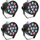 GBGS Led Par uplighting Par Wall Wash Wedding DJ Up Light RGBW Color Mixing Can Lamp for KTV Bar Pub Dance(4 Pack)