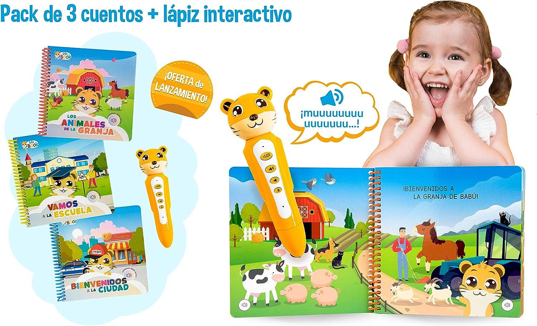 blaBOOK Pack de 3 Libros Interactivos Infantiles para Niños Entre 2 y 5 años + Lápiz Lector   SI Contiene Lápiz Lector: Amazon.es: Juguetes y juegos