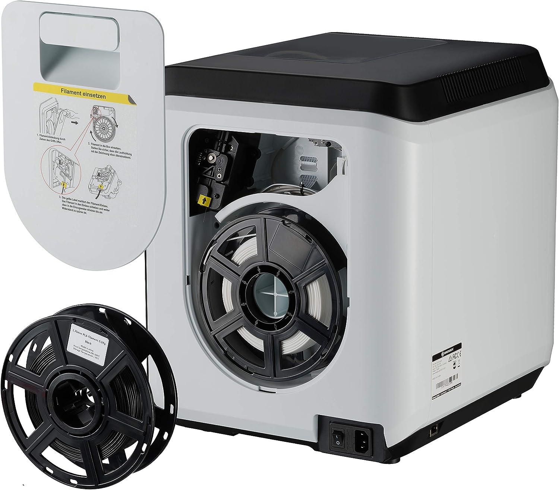 2 Extruder-D/üsen Spachtel zum sofortigen Start 2 x PLA Filament Bresser 3D Drucker mit WLAN und integrierter Kamera wei/ß, schwarz 1x Ersatz inklusive EPA Filter f/ür saubere Abluft