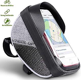 Eveter WH0201 Housse de Protection Avant pour téléphone Portable et Poche supérieure étanche pour vélo Sensitive Touch Gris