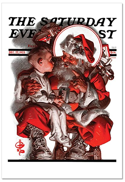 Amazon b6037axsg box set of 12 christmas evening post b6037axsg box set of 12 christmas evening post christmas greeting card featuring an iconic image of m4hsunfo