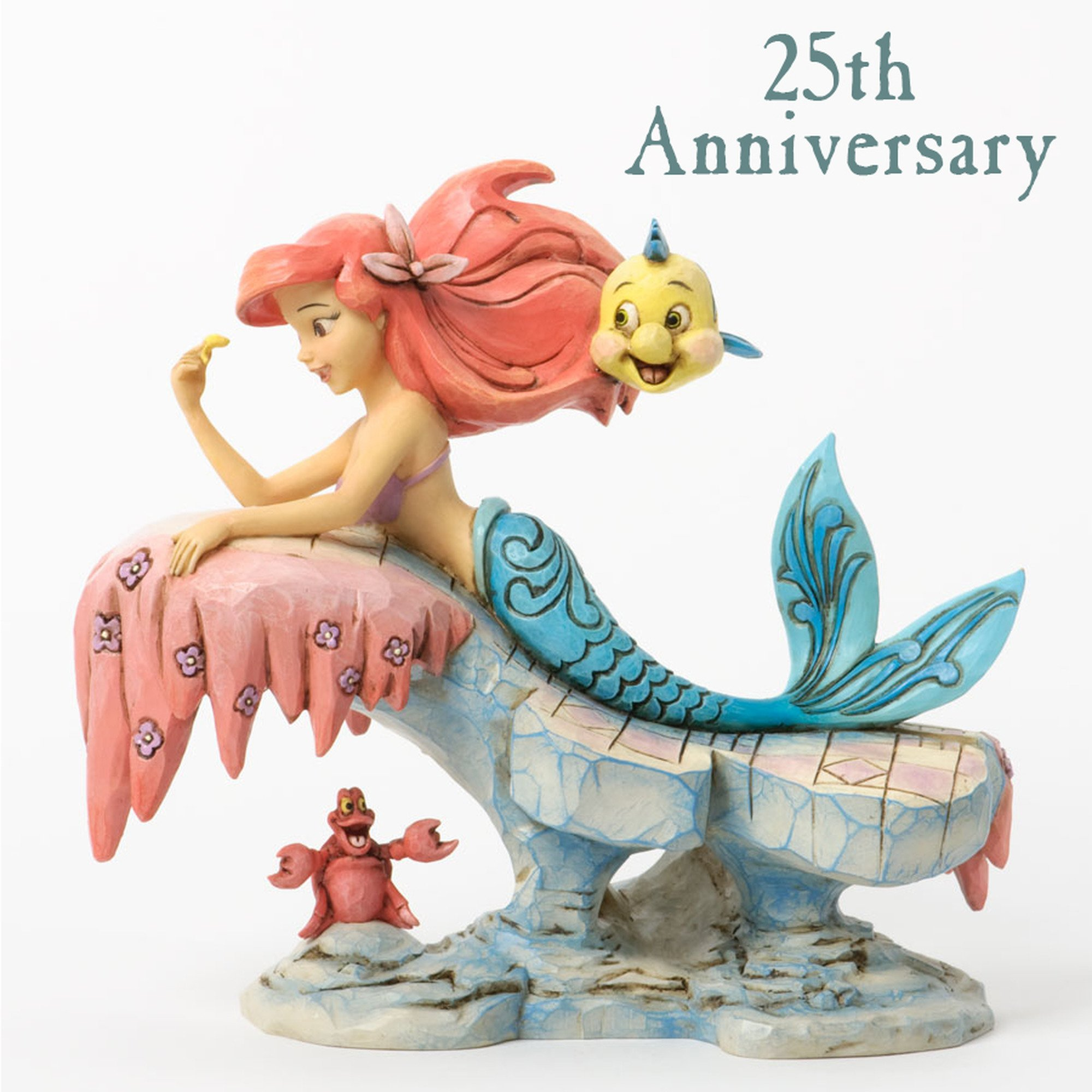 Disney Traditions by Jim Shore ''The Little Mermaid'' 25th Anniversary Stone Resin Figurine, 6.25'' by Jim Shore for Enesco