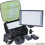 Radiant PRO 160-SMD-LED CRI 95+ Bi-Color Dimmable Camcorder Video Camera Light and On-Camera Light Kit