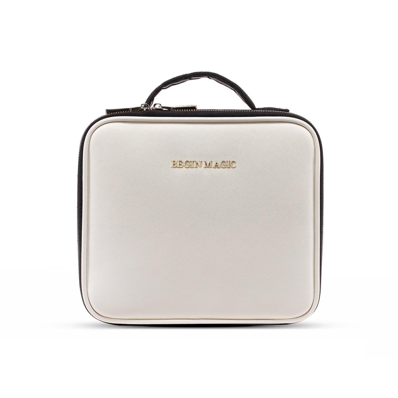 BEGIN MAGIC Kosmetikkoffer Professionelle Kosmetiktasche Beauty Case Reisengepäck mit Schultergurt