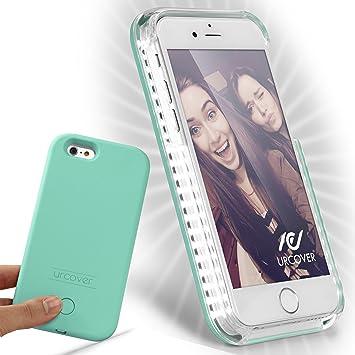 Urcover® Funda con Luz para Selfies Smartphone Case | Apple iPhone ...