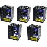 ZAZ 互換インク ICBK73L 増量版 ブラック 5個セット ICチップ付 EPSON互換 インクタンク 対応機種: PX-K150 ZAZブランド FFPパッケージ(73-5)