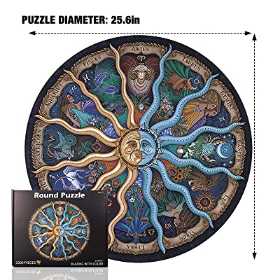 1000 pieces round puzzle jigsaw music instrument for adult kids educational toy