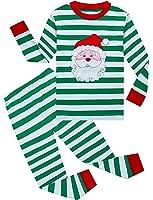 Family Feeling Little Boys Girls' Stripe Christmas Pjs Cotton Pajama Sets