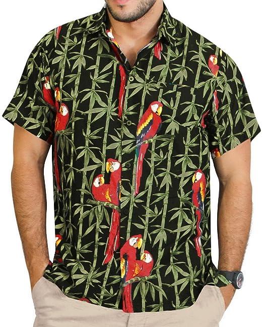*La Leela******* Shirt Camisa Hawaiana Hombre XS - 5XL Manga Corta Delante de Bolsillo Impresión Hawaiana Casual Regular Fit Camisa… KTO8zRg7L