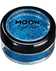 Fine Glitter Shakers by Moon Glitter – 100% Cosmetic Glitter for Face, Body, Nails, Hair and Lips - 0.17oz - Blue