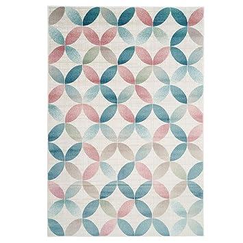 Carpet City Teppich Modern Designer Wohnzimmer Inspiration Net Netz Muster  Pastelfarbend Multi Größe 80/