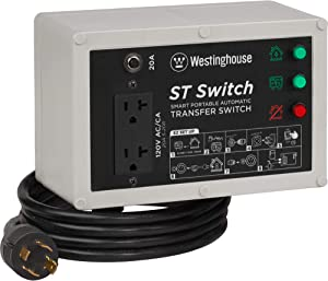 Westinghouse ST Switch with Smart Portable Automatic Transfer Technology Home Standby Alternative, For Sump Pumps, Refrigerators, and More