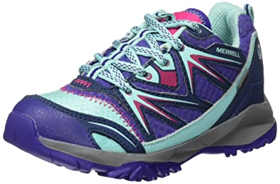 c45c7c79f365f Merrell Girls' Ml Capra Bolt Lace Waterproof Low Rise Hiking Shoes,  Multicolor (Navy