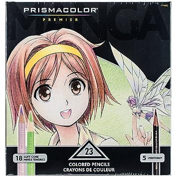 Prismacolor Premier Colored Pencils, Manga Colors, 23-Count: Amazon ...