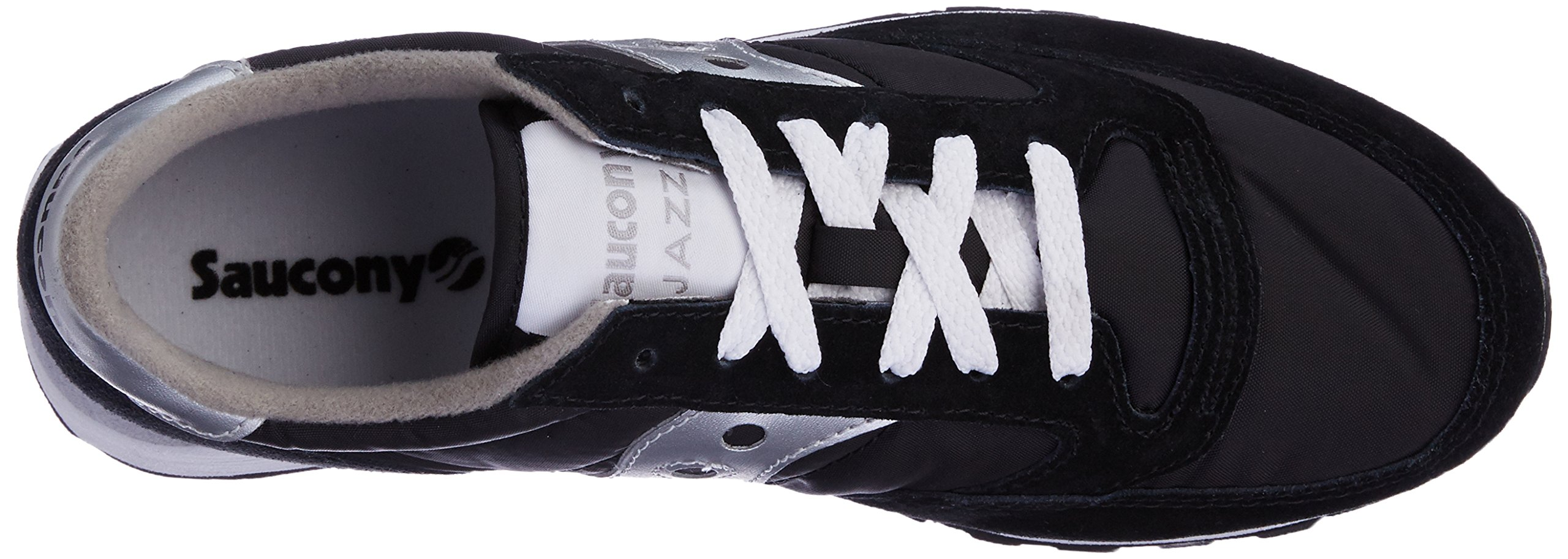 Saucony Originals Men's Jazz Sneaker,Black/Silver,10 M