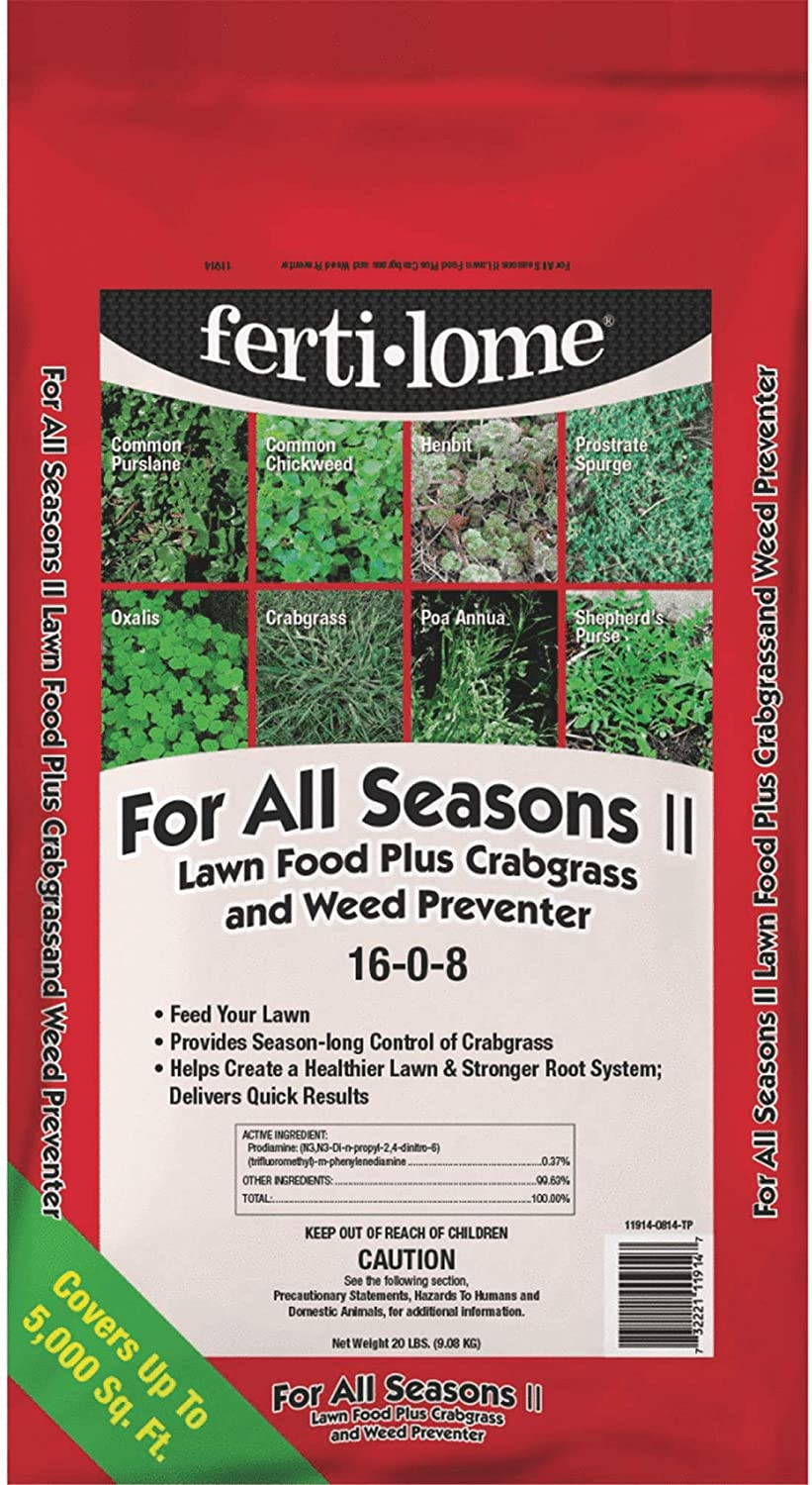 VPG Ferti-Lome for All Seasons II Lawn Fertilizer with Crabgrass & Weed Preventer 20 lb