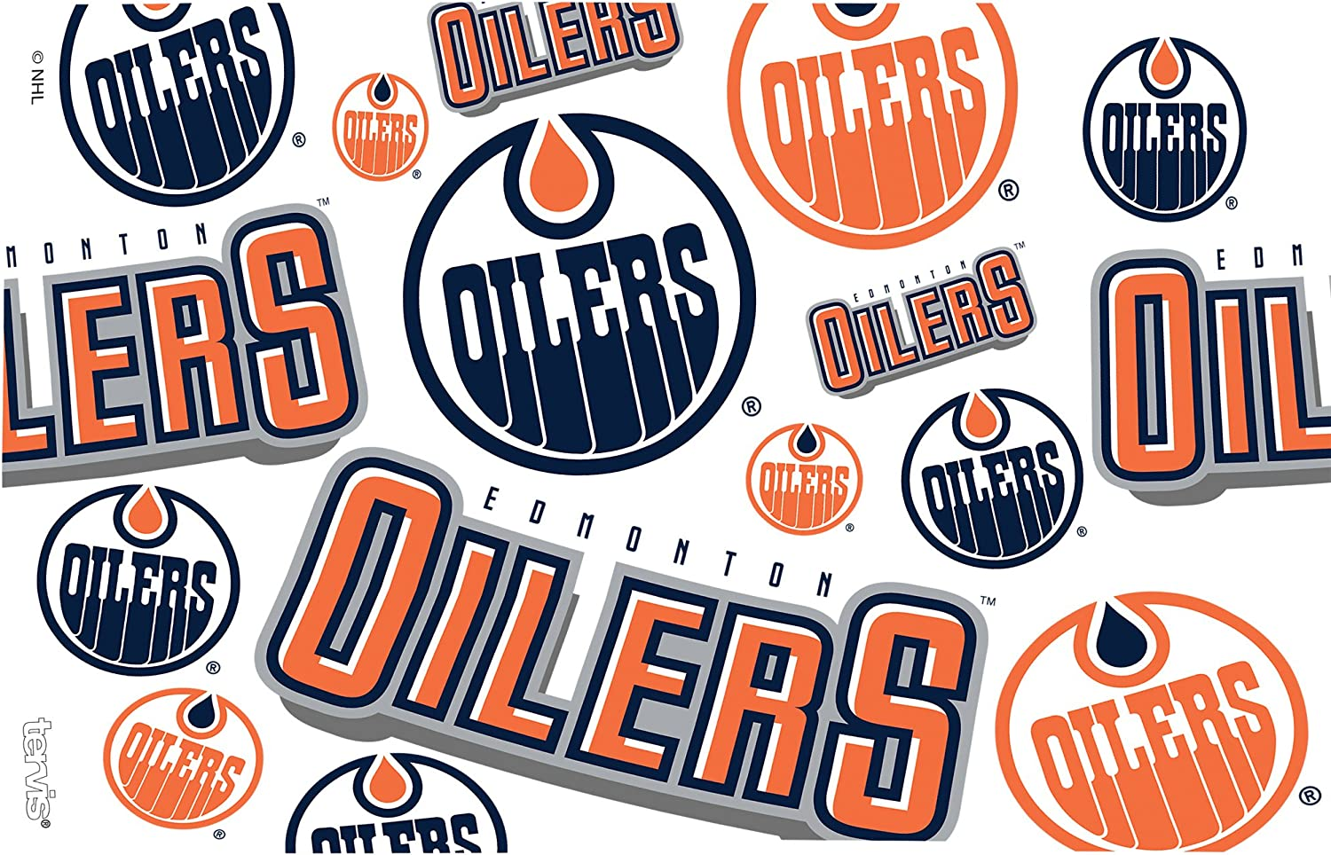 Tervis 1259456 NHL Edmonton Oilers All Over Tumbler with Wrap and Navy Lid 24oz Clear